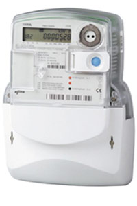 This smart meters from First Utility are to replace existing gas and electricity meters.