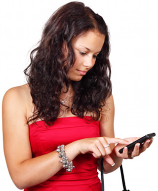 woman texting