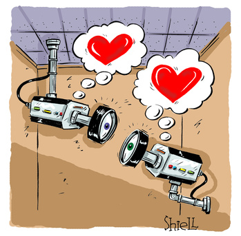 Cameras in love